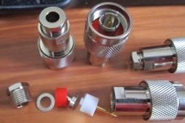 N Solder/Clamp Plug for RG-58 or RG-223, 15 Off.