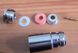 N Solder/Clamp Socket for RG-58, 10 Off.